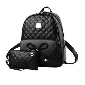 Handbags - 2-PCS Fashion Cute Mini Leather Backpack